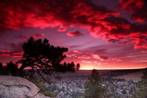 longexposure sky tree rock clouds sunrise canon landscape dawn colorado boulder filters goldenhour 6d bouldercolorado gnd canonef24105mmf4lisusm singhray eos6d ef24105f4l