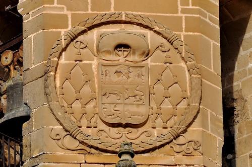 Úbeda (Jaén). Iglesia de San Pablo. Torre. Escudo