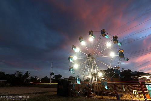 sunset fair ferriswheel perya canon1022mm canon1000d rawenbalmaña mabinipangasinan