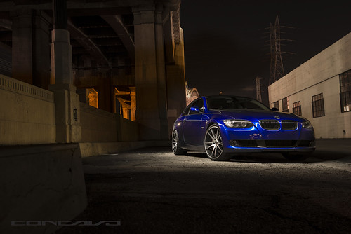 BMW 335I ON CW-S5 MATTE BLACK MACHINED FACE | by Concavo Wheels