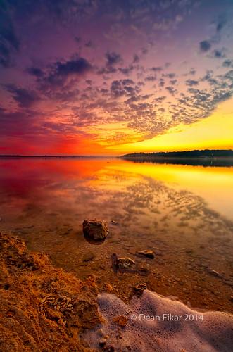 park city winter sunset sky lake reflection nature water beauty clouds landscape outdoors twilight pond rocks texas unitedstates outdoor horizon shoreline scenic dramatic nobody fortworth manmadelake lateafternoonlight benbrooklake urbanlake bodyofwater nonurbanscene