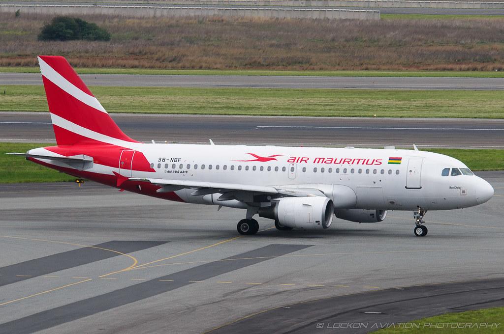 2-Dec-2012 JNB 3B-NBF A319-112 (cn 1592) / Air Mauritius