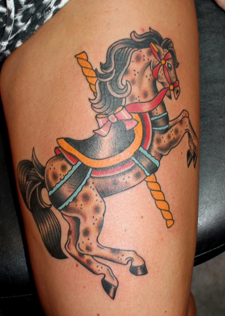 Carousel Horse Tattoo Myke Chambers A Photo On Flickriver