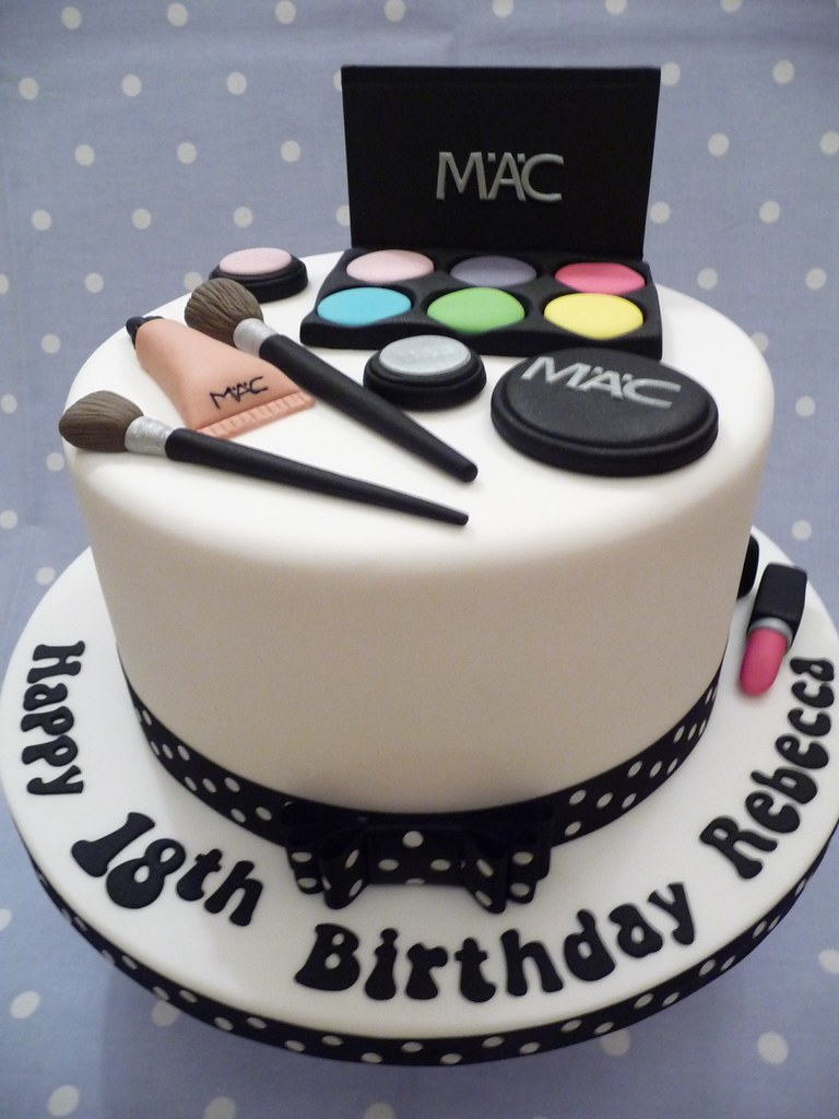 Mac Makeup Cake 18th Birthday Cake For A Young Lady Who