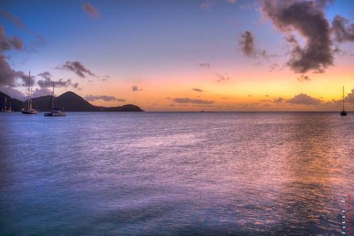ocean sunset beach landscape stlucia pigeonisland rodneybay roomtheagency liveroompublished