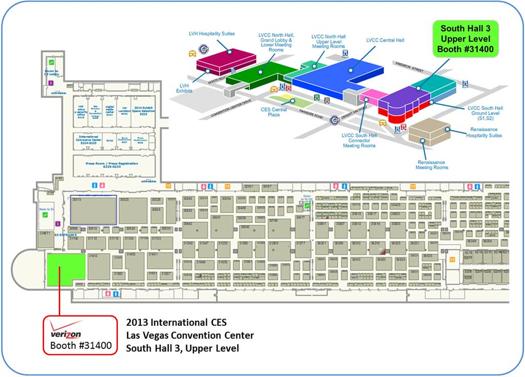 2013 CES - Verizon Booth Map - JPEG | Verizon Photos | Flickr