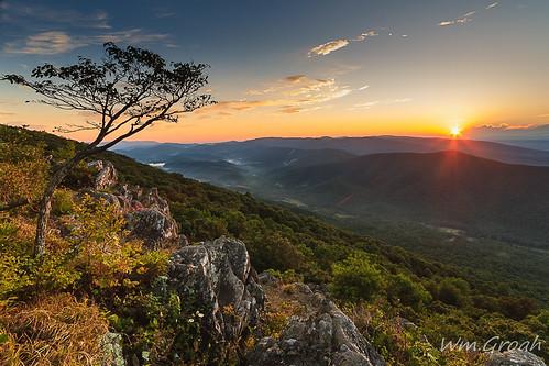 sunset virginia shenandoahvalley blueridgeparkway