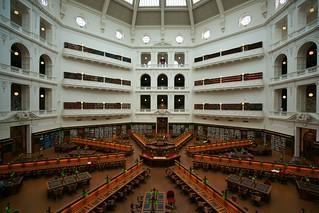 La Trobe Reading Room, desks, Melbourne | by Joe Lewit