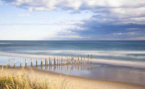 ocean blue newzealand praia beach espelho azul clouds reflections postes mirror mar sand seascapes areia playa arena nubes espejo nuvens poles reflexos reflejos oceano novazelândia longaexposição nuevazelanda longexposures largaexposición 2013