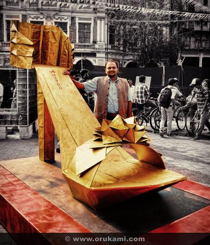 Origami Shoe at Kala Ghoda Art Festival 2013 | by Himanshu (Mumbai, India)