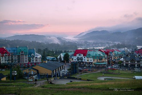 canonefm28mmf35macroisstm lens mist atmosphere twilight adobelightroomcc 2016 mirrorless sunset village monttremblant alienskinexposurex summer mountain dustinabbottnet canoneosm3 travel thousandwordimages photography comparison review adobephotoshopcc test quebec canada photodujour dustinabbott québec ca pedestrianvillage tremblant
