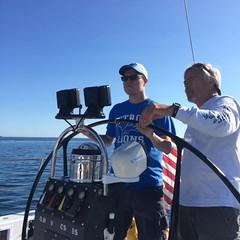 Evan H. with Captain Dan K.