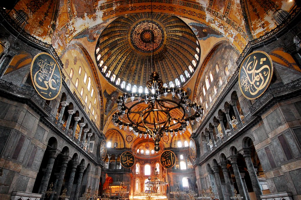 Interior view of the Hagia Sophia, showing Islamic element… | Flickr