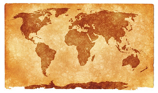 World Grunge Map - Sepia | by Free Grunge Textures - www.freestock.ca