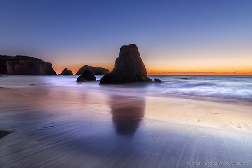 ocean california sunset reflections stars twilight dusk tokina marincounty 1224mm seastacks rodeobeach fortcronkite