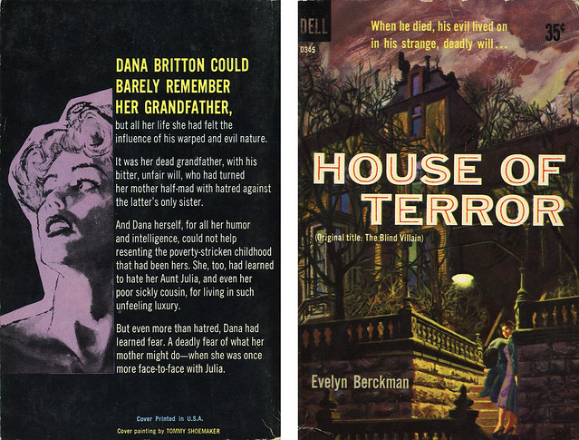Dell Books D345 - Evelyn Berckman - House of Terror (with back)