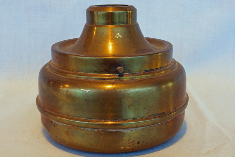 DSC02027 Antique Brass Kerosene Lamp Base