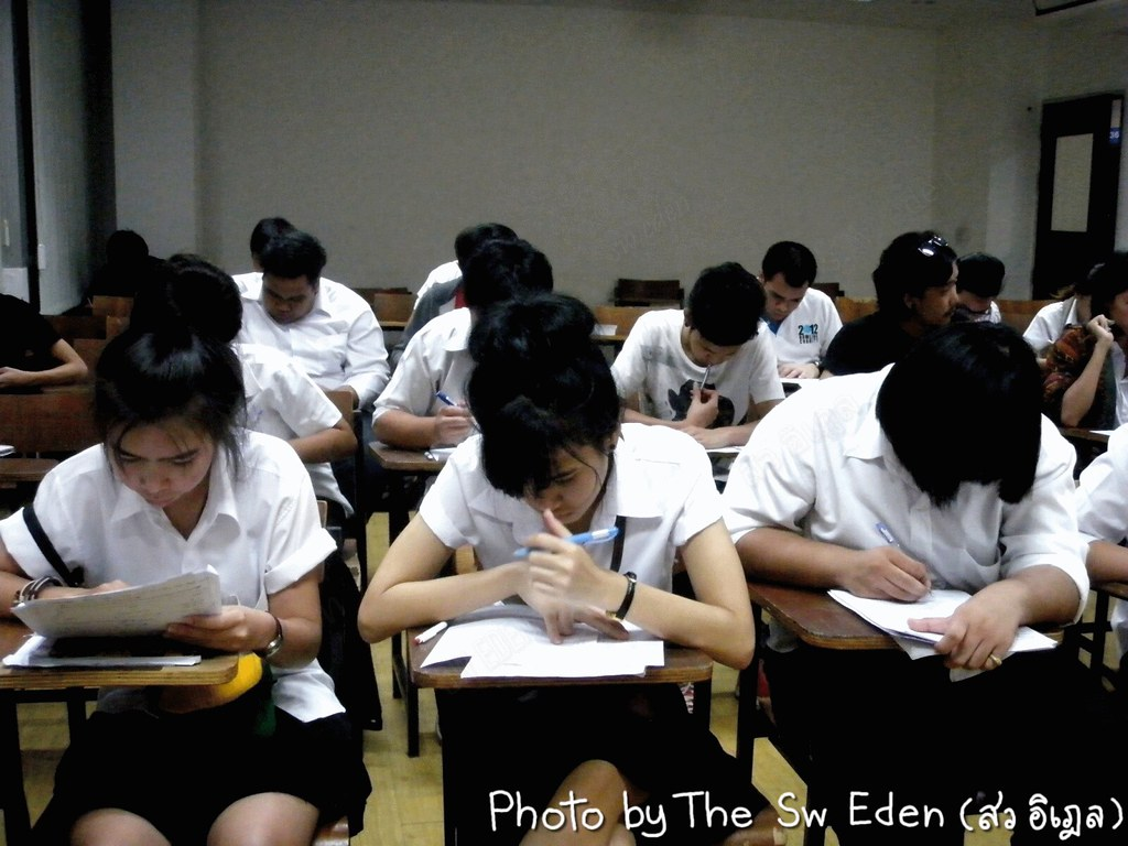 Thailand Education Teachers Students School University Classroom Studying Learning Activities traditional examination exam