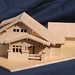 Image of a wooden architecture model