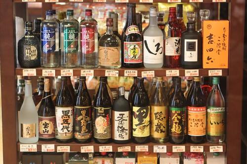 Takayama at Night - a selection of sake