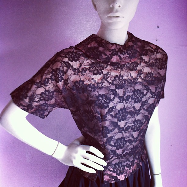 ... Some #vintage #lace, perfect for #holiday #parties.