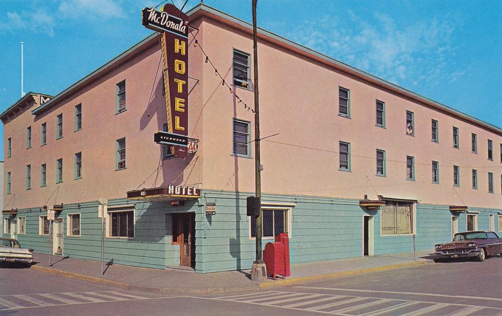 Postcard: McDonald Hotel, Prince George, BC, 1962