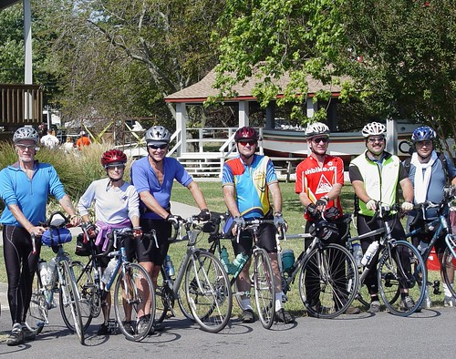 Cyclist tour, St. Clement's Island Museum