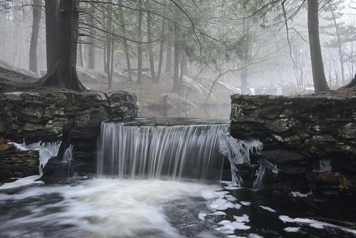 winter mist snow nature ma waterfall massachusetts january sanctuary broadmoor millpond audubon natick indianbrook bestcapturesaoi thomasswain thomasswain'smill