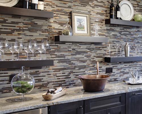 Etonnant Kitchen Backsplash Ideas From Drury Design   Horizontal Line ...