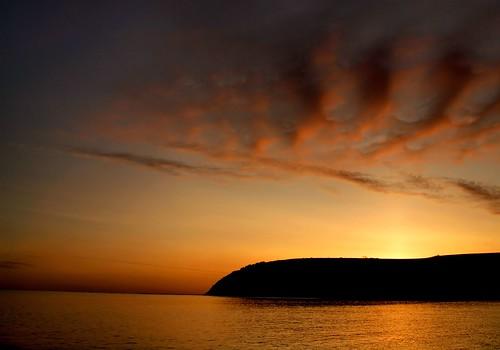 orange clouds sunrise scotland highlands cromarty sutor