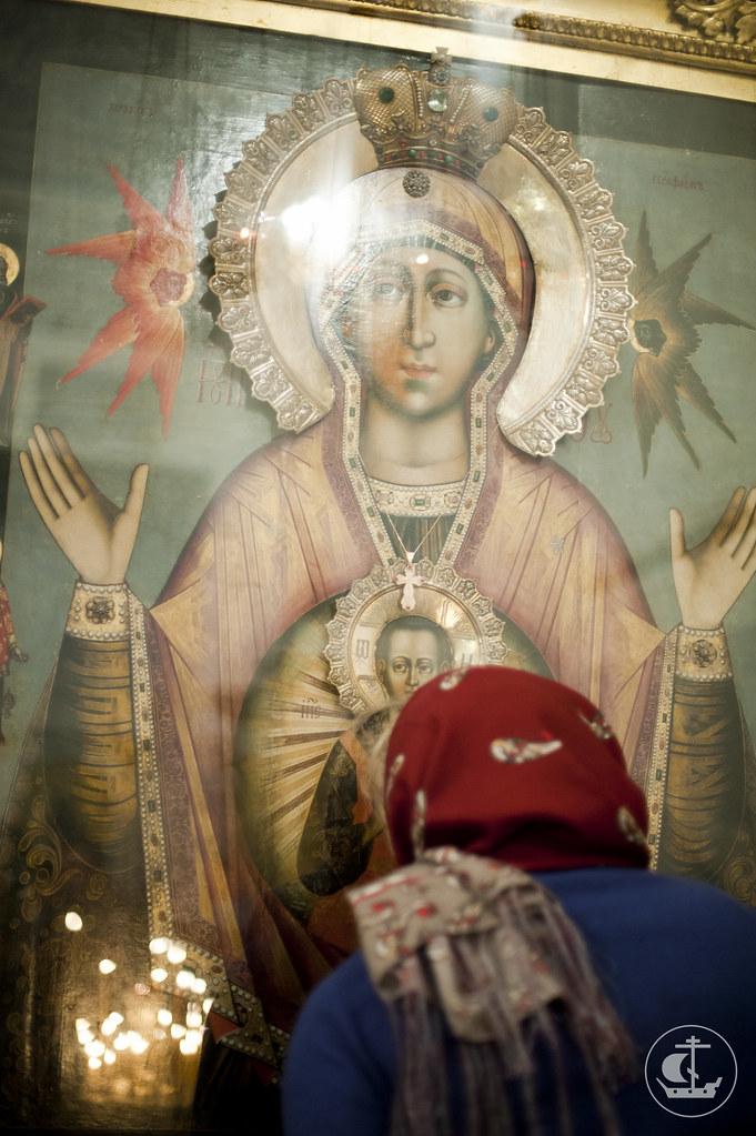 """9 декабря 2012, Всенощное бдение накануне дня празднования в честь иконы Божией Матери, именуемой """"Знамение"""""""