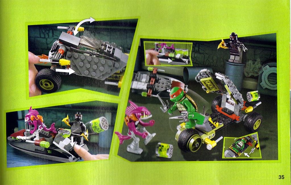"LEGO Teenage Mutant Ninja Turtles :: ""Stealth Shell in Pursuit"" ; manual ii (( 2013 )) by tOkKa"
