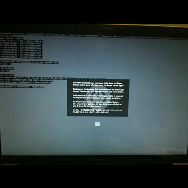 Yay for mac kernel panic | Yay for mac kernel panic | Flickr
