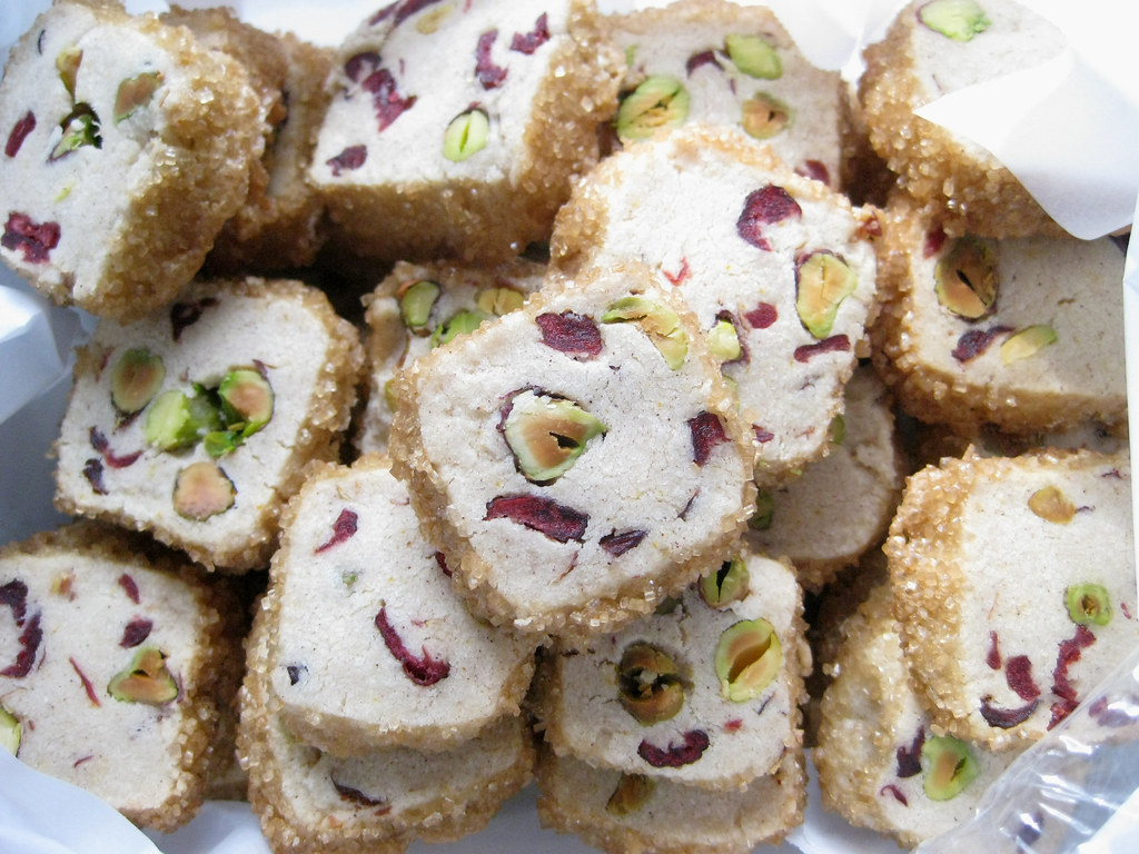 Pistachio Cranberry Ice Box Cookies Gollybard Blogspot Com Flickr
