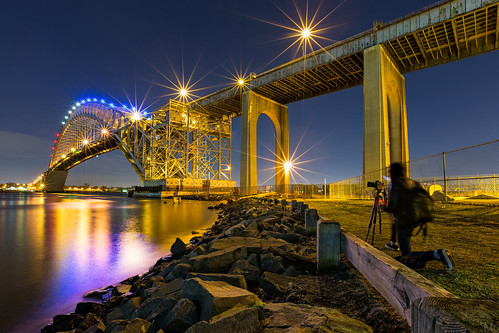 park city longexposure travel bridge light color reflection water metal architecture night print stars landscape photography lights photo newjersey scenery gallery cityscape unitedstates image fineart stock scenic nj picture canvas license flare bayonne mikeorso deffractionspikes