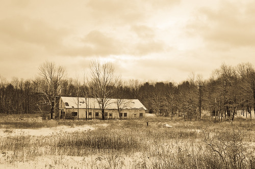 snow abandoned field sepia barn landscape tamron1024mmlens
