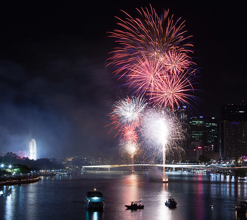 Brisbane NYE fireworks | by Colin_K