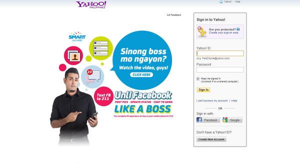 Yahoo facebook www com sign in Yahoo ist