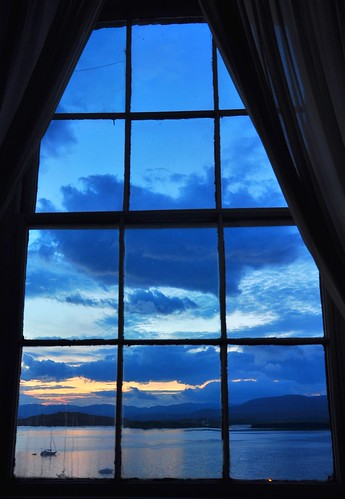 window evening view bantry bantryhouse