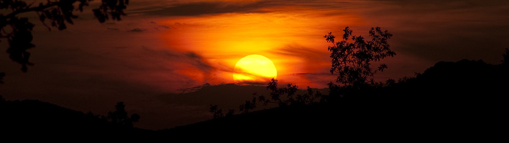 Sunset in Börzsöny