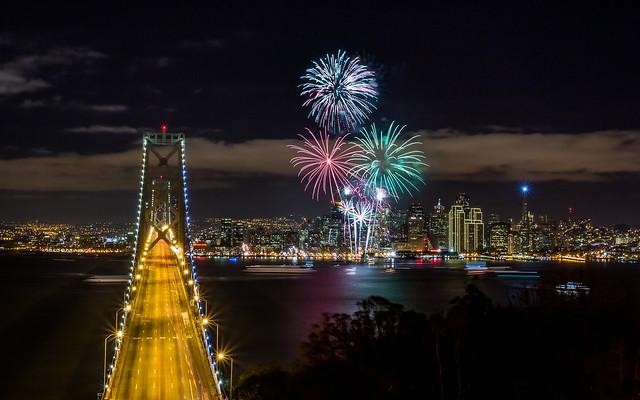 San Francisco 2013 New Years Fireworks