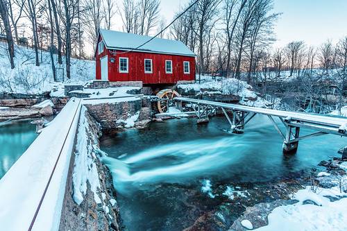 trees sunset snow canada building mill water dam shed waterfalls stcatherines on decewfalls beamsville