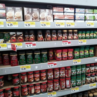 I love the coffee aisle at the Hispanic market! #VegetarianLatina #coffee | by VeggieGrl