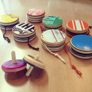 Reclaimed skateboard tops and yo-yos | by Paris on Ponce & Le Maison Rouge