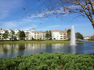 A fountain view at Disney's Saratoga Springs Resort | by Erin *~*~*
