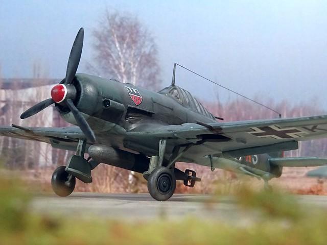 1:72 Henschel Hs 165 A-1; aircraft K6+KS of III./KG 6, Deutsche Luftwaffe; Melsbroek (Belgium), autumn 1943 (Whif/Kitbashing)