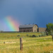Rainbow and Barn