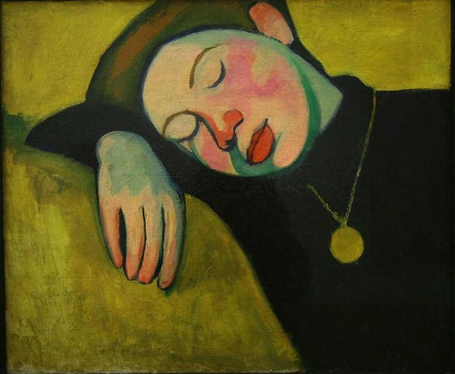 Delaunay, Sonia  (French, 1885-1977)  - Young Girl Asleep  - 1907