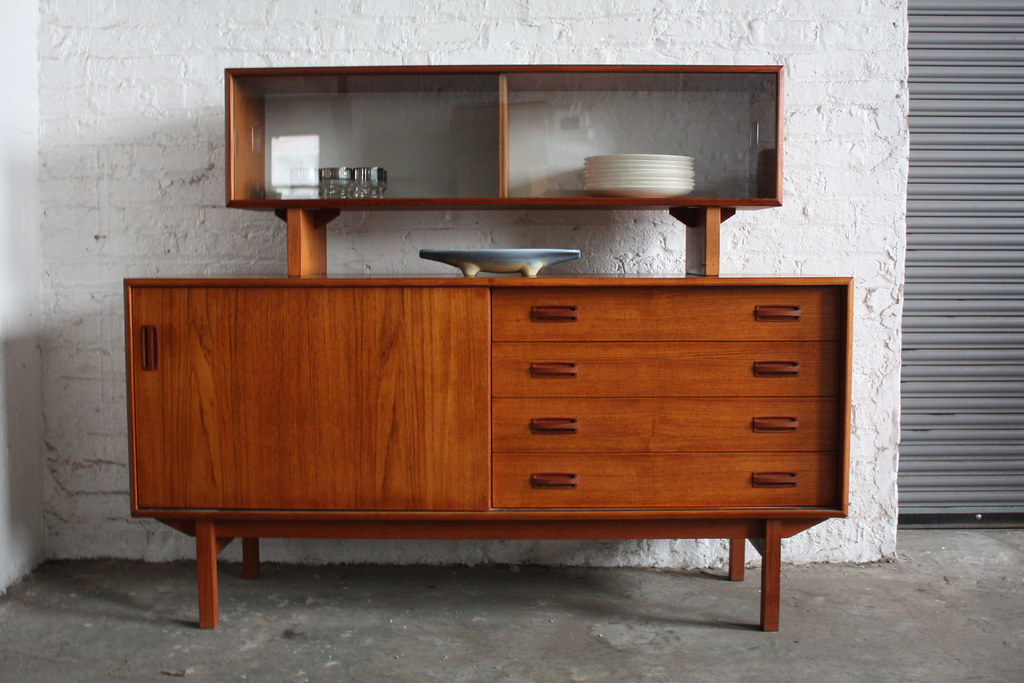 Danish Floating Credenza : Excellent danish mid century modern teak credenza with flou flickr