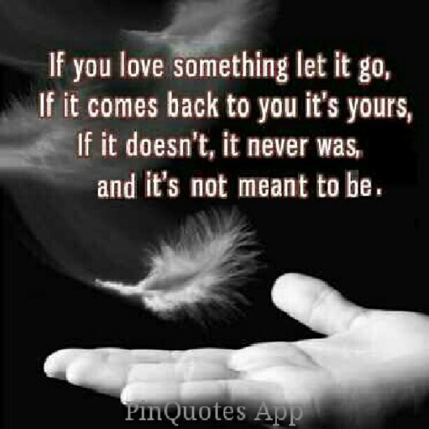 If You Love Something Let It Go If It Comes Back It Was Flickr